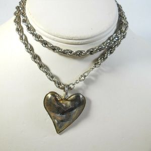 Jewelry - Heart Vintage Necklace Long